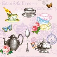 Servietten 33x33 cm - Tea Mix Rose