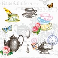 Servietten 33x33 cm - Tea Mix White