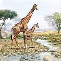Servietten 33x33 cm - Giraffes