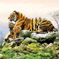 Servietten 33x33 cm - Tigers