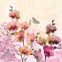Servietten 33x33 cm - Orchids Orient