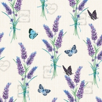 Servietten 33x33 cm - Lavender With Love Cream