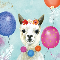 Servietten 33x33 cm - Party Lama