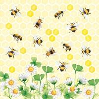 Servietten 33x33 cm - Bees Joy