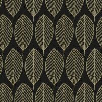 Servietten 33x33 cm - Oval Leaves Black/Gold