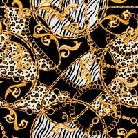 Servietten 33x33 cm - Golden Pattern Black
