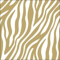 Servietten 33x33 cm - Zebra Stripes Gold
