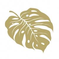 Servietten 33x33 cm - Monstera Gold
