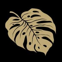 Servietten 33x33 cm - Monstera Gold/Black
