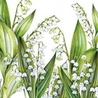 Servietten 33x33 cm - Sweet Lily