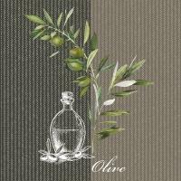 Servietten 33x33 cm - Oil And Olives