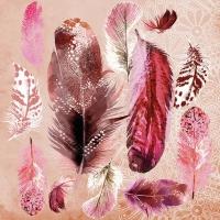Servietten 33x33 cm - Feather Mix