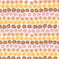 Servietten 33x33 cm - Happy Flowers Brown