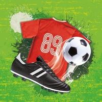Servietten 33x33 cm - Soccer