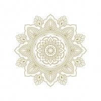Servietten 33x33 cm - Mandala Gold/White
