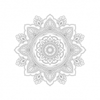 Servietten 33x33 cm - Mandala Silver