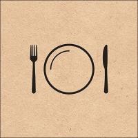 Servietten 33x33 cm - Nice Dinner