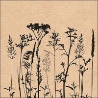 Servietten 33x33 cm - Herbs And Flowers Black