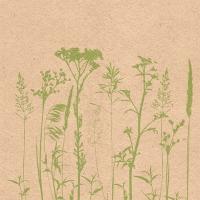 Servietten 33x33 cm - Herbs And Flowers Green