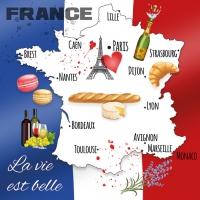 Servietten 33x33 cm - La Vie Est Belle
