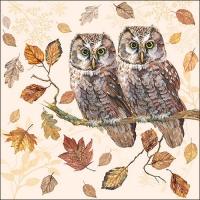 Servietten 33x33 cm - Owl Couple