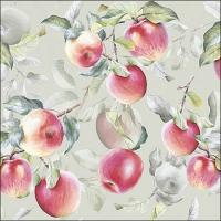 Servietten 33x33 cm - Fresh Apples Green