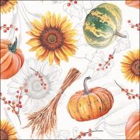Servietten 33x33 cm - Pumpkins & Sunflowers