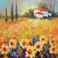 Servietten 33x33 cm - Painted Field Flowers