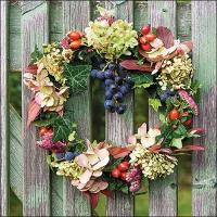 Servietten 33x33 cm - Autumn Wreath