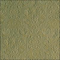 Servietten 33x33 cm - Elegance Green Leaf