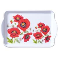 Tablett - 15X23cm Poppy Scene