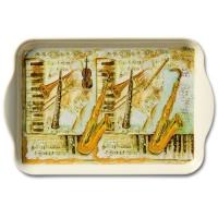 Tablett - 13X21cm Musical Instruments