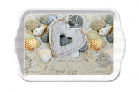 Tablett - Herzen und Steine