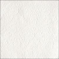 Servietten 40x40 cm - Elegance White