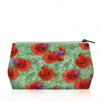 Kosmetiktasche - Cosmetic Bag Painted Poppies Green