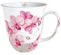Porzellan-Henkelbecher Mug 0.4 L Orchids With Love