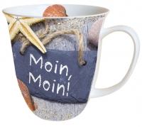 Porzellan-Henkelbecher Moin Moin