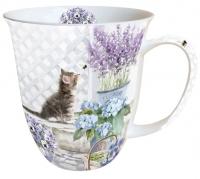 Porzellan-Tasse - Kätzchen