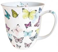 Porzellan-Henkelbecher Mug 0.4 L Butterfly