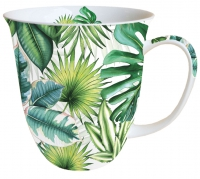 Porzellan-Tasse - Tropical Leaves
