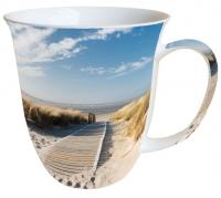 Porzellan-Tasse Walking To The Sea