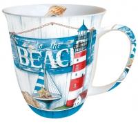 Porzellan-Tasse - Zum Strand