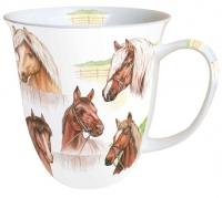 Porzellan-Tasse - Pferde-Sortiment