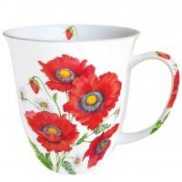 Porzellan-Tasse Poppy Scene