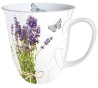 Porzellan-Tasse - Lavendelstrauß