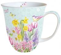 Porzellan-Tasse - Blooming Garden Turquoise