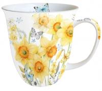 Porzellan-Tasse - Klassische Narzissen