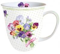 Porzellan-Tasse - Bund Veilchengrün