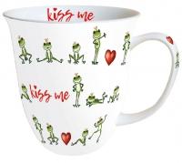 Porzellan-Tasse - Küss mich