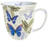 Porzellan-Tasse - Blauer Morpho
